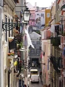 auf dem Streifzug durch Lissabon