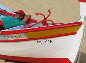 Fischer an Portugals Küste