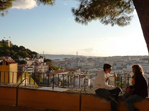Lissabon-Castelo-Aussicht