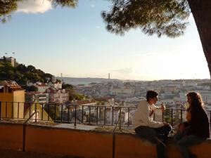 Lissabon Castelo Ausblick Portugal