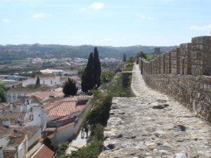 Stadtmauer-Obidos-Stadt