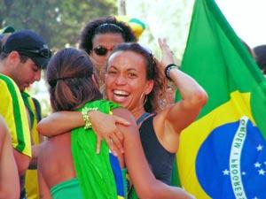 brazilie voetbal fan meisje