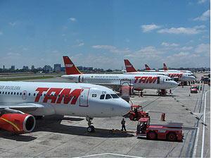 Tam vliegtuigen Brazilie vakantie