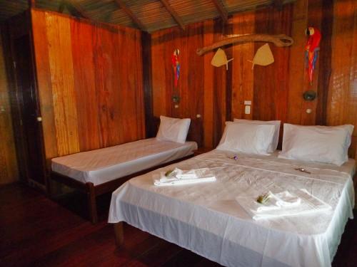 Brazilie familiereis - junglelodge familiekamer
