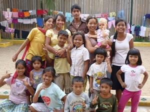 Gruppenbild der Heimkinder