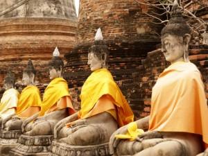 Die Tempel in Ayutthaya
