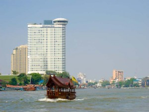 Boot auf dem Chao Phraya Fluss
