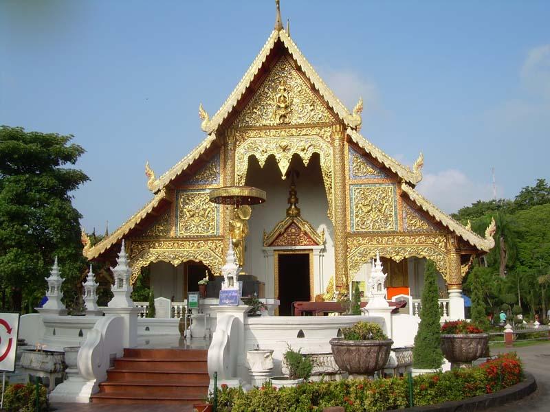 Ein Tempel in Chiang Mai
