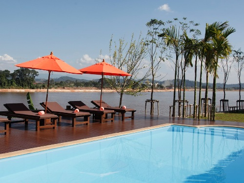 Hotel am Mekong in Nordthailand
