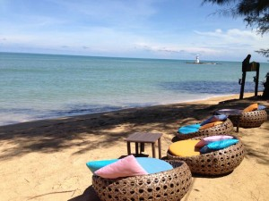 Entspannung am Strand in Thailand in Khao Lak