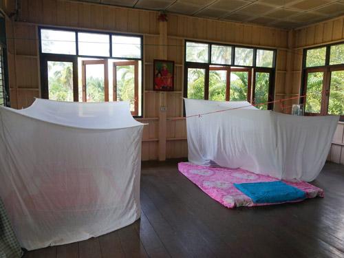 Unterkunft beim Homestay in Thailand