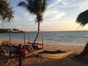 Sonnenuntergang am Strand von Koh Lanta