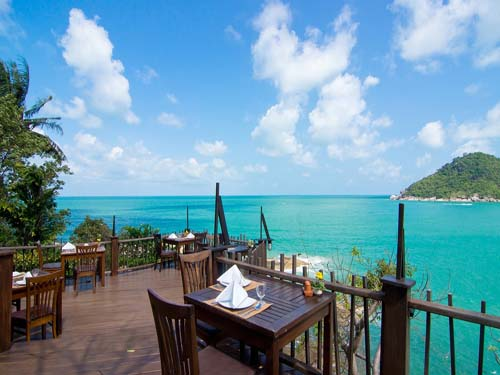 Blick auf das Meer um Koh Phangan