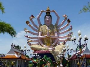 Statue einer Göttin auf Koh Samui