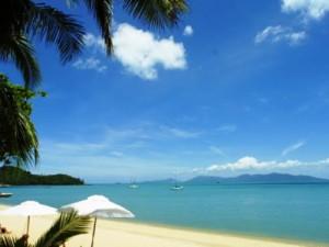 Badeaufenthalt am Strand von Koh Samui