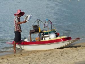 Verkäufer auf Koh Samui