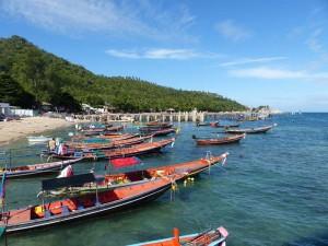Ankunft auf der Schildkröteninsel Koh Tao