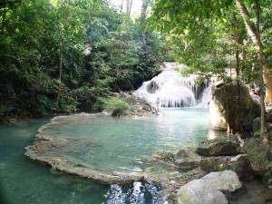 Thailand Highlights Rundreise Erawan Wasserfälle
