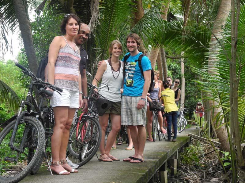 Eine Fahrradtour durch Bangkok