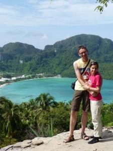 Reiseberichte Thailand - Blick über Koh Phi Phi