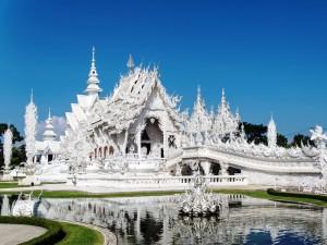 """Ein besonderer Tempel - der """"Weiße Wat"""" in Chiang Rai"""