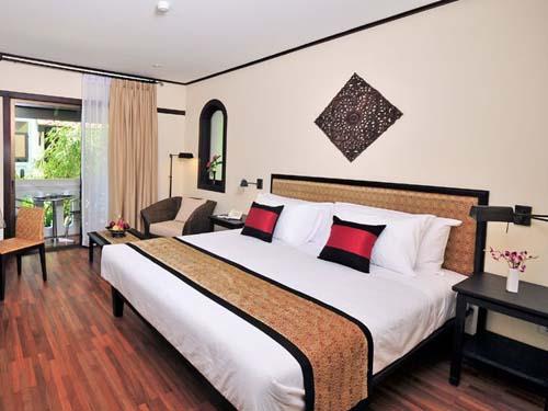 Komfortables Zimmer im Hotel in Vientiane