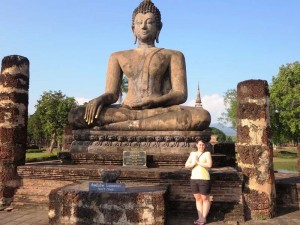 Unterwegs im Historical Park in Sukhothai