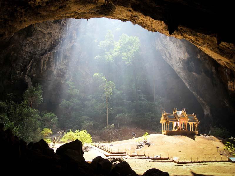 Die Khao Sam Roi Yot Höhle in der Nähe von Pranburi