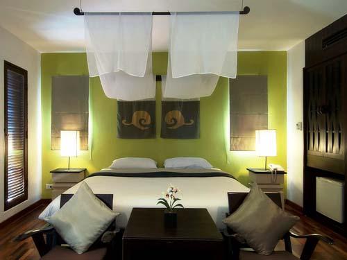 Gemütliches Zimmer im Hotel in Pranburi