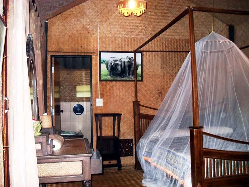 Schlafzimmer im Elefantencamp