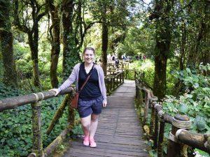 Reisespezialistin Franziska Matthes auf dem Doi Inthanon