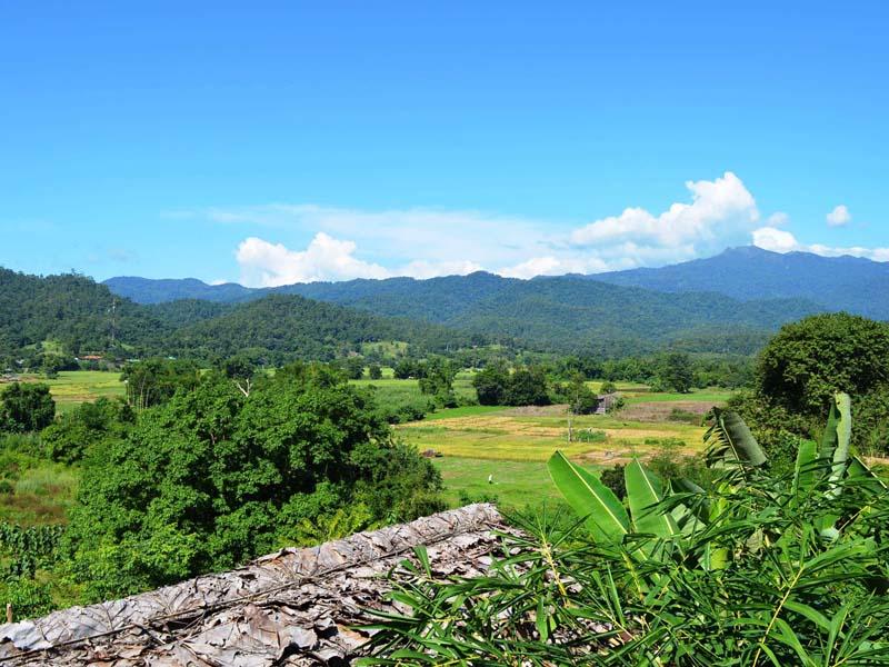 Berglandschaft bei Pai
