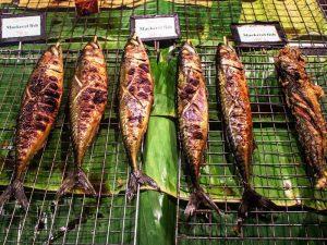 Gegrillter Fisch vom Markt auf Koh Phangan