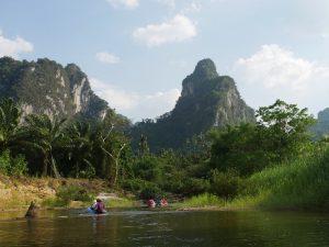 Eine Tour mit dem Kanu im Khao Sok Nationalpark