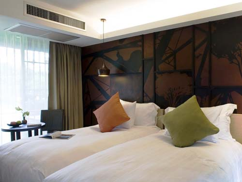Komfortables Zimmer im Hotel in Kanchanaburi
