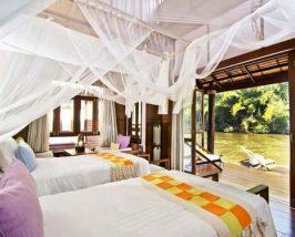 Komfortabel eingerichteter Bungalow auf dem River Kwai