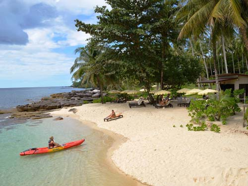 Privater Strand im Hotel auf Koh Kood