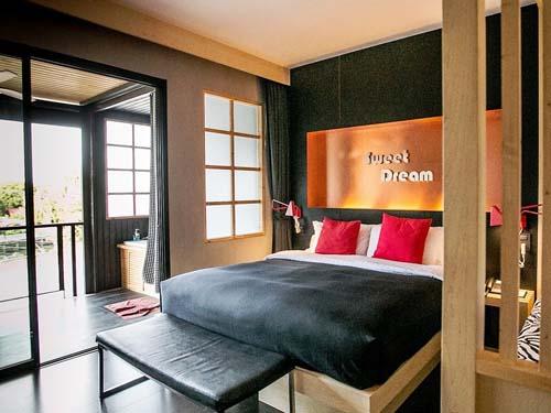 Stilvoll eingerichtetes Zimmer auf Koh Samui