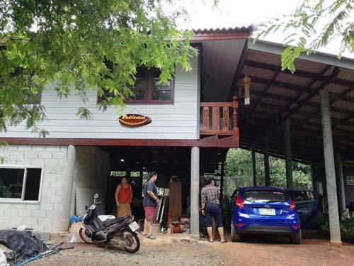 Haus im Dorf Baan Laem Makham