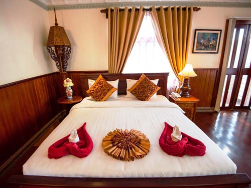 Freundlich eingerichtetes Zimmer in Phnom Penh