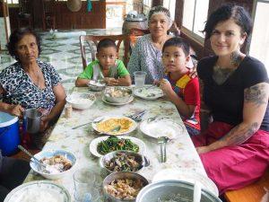 Zu Gast bei einer Familie in Sukhothai