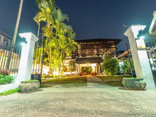 Hotel in Siem Reap bei Nacht