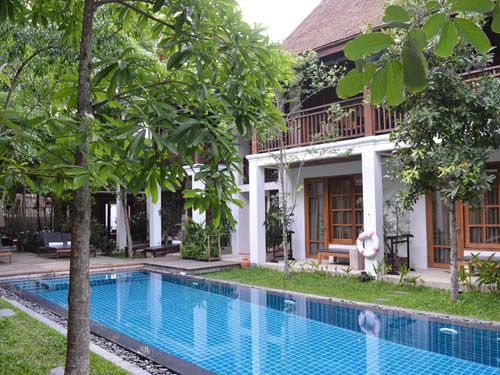 Ein Pool zum Entspannen in Luang Prabang