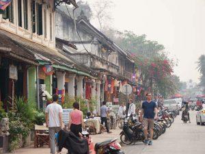 Straße in Luang Prabang