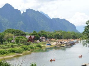 Nam Song Fluss in Vang Vieng