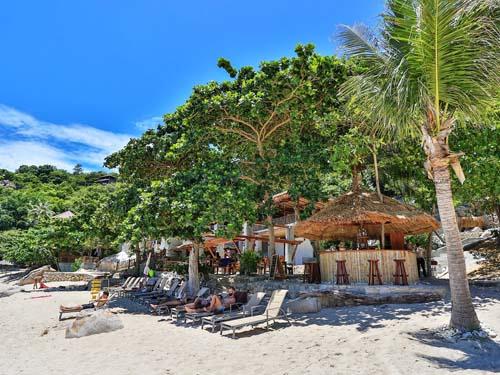 Relaxen am Strand auf Koh Tao