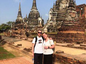 Tempelbesichtigung in der alten Königsstadt Ayutthaya