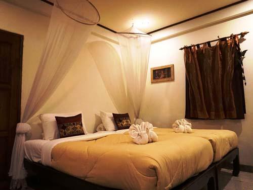 Gemütliche Zimmer im Thai-Stil