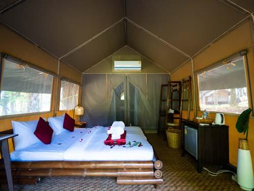 Klimatisiertes Dschungel-Zelt