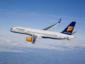 Icelandair Boeing 757-200 photographed on November 4, 2007 from Clay Lacy Astrovision Learjet